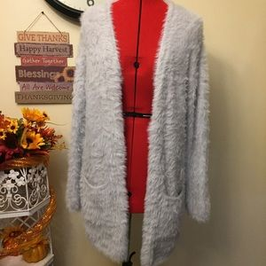 Free People Soft Fuzzy Open Cardigan Sweater Med